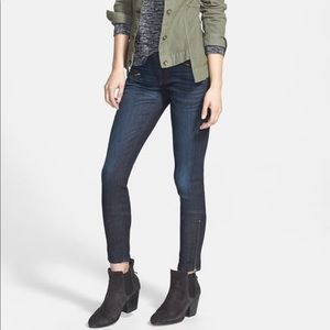 Rag & Bone Zip Blue Kensington Moto Jeans